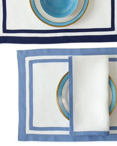Casual Couture Border Napkins  Set of 4 and Matching Items