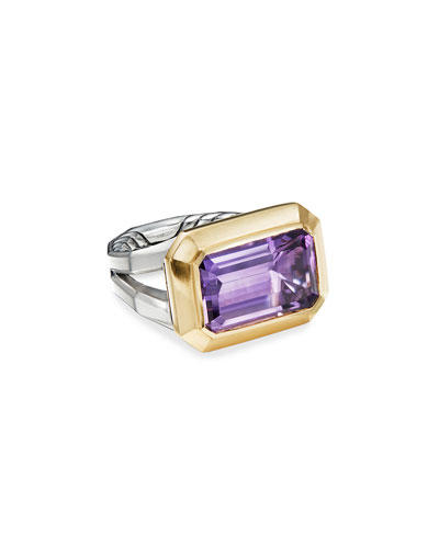 Novella 16mm Stone Ring w/ 18k Gold & Amethyst/Citrine  Size 5-8 and Matching Items