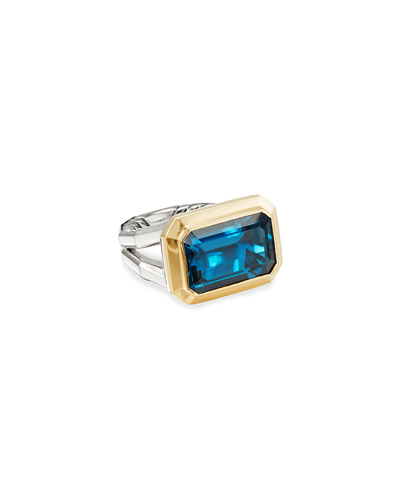 Novella 16mm Stone Ring w/ 18k Gold & Topaz  Size 9 and Matching Items