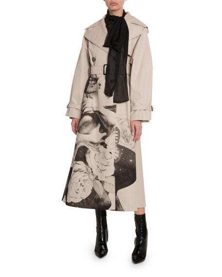 Valentino Lovers Graphic Gabardine Trench Coat