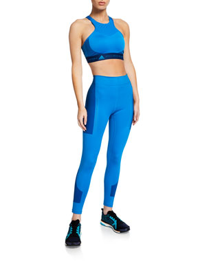 premium selection 82175 e0be5 adidas by Stella McCartney Hiit High-Neck Sports Bra Train High-Rise Tights