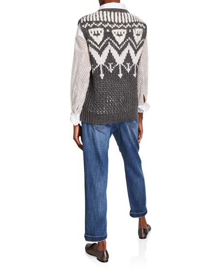 Brunello Cucinelli Cashmere Hand Opera-Knit Sleeveless Sweater