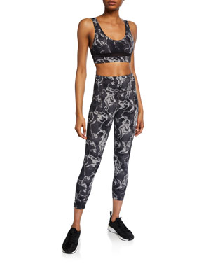 c894a9ec0da2 Varley Bedford Snakeskin-Print Tight Leggings Berkeley Snake-Print  Performance Bra