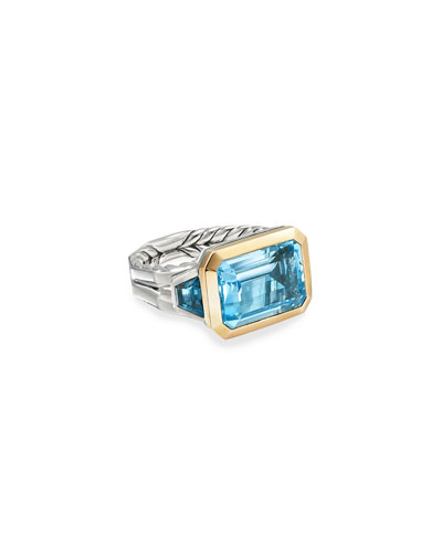 Novella 3-Stone Ring w/ 18k Gold & Topaz  Size 5-8 and Matching Items