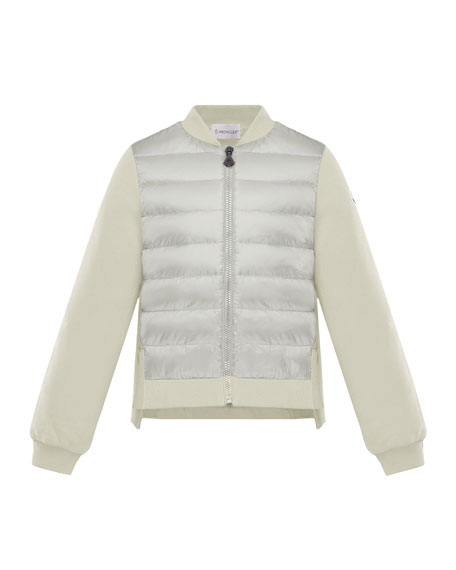 Moncler Maglia Knit & Quilted Combo Jacket, Size 4-6