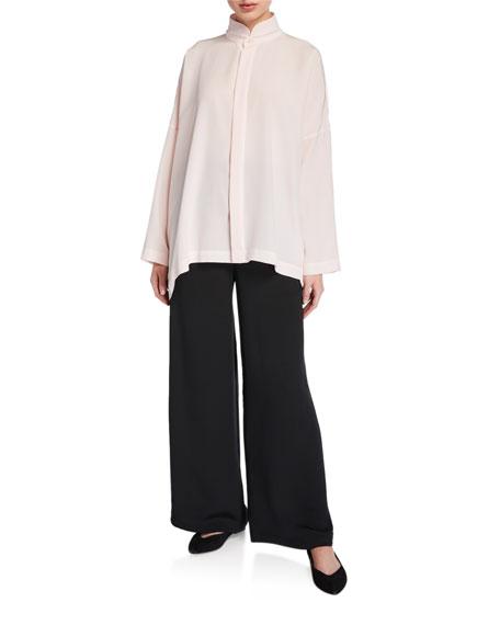 Eskandar Double-Stand Collar Oversized Tunic