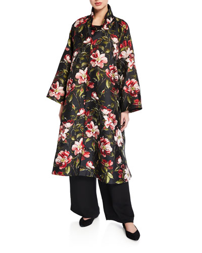 Floral Print Midi Jacket and Matching Items