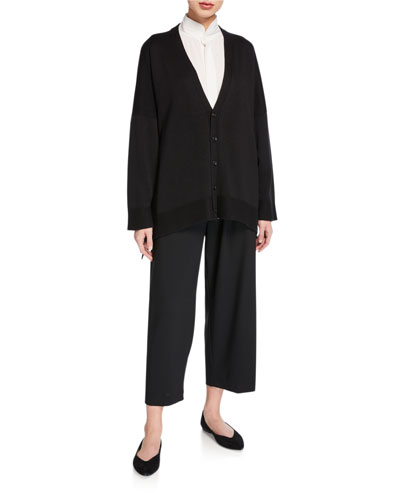 3/4 Long-Back Silk Cardigan and Matching Items