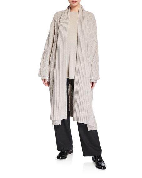 Eskandar Cashmere A-Line Bateau-Neck Sweater
