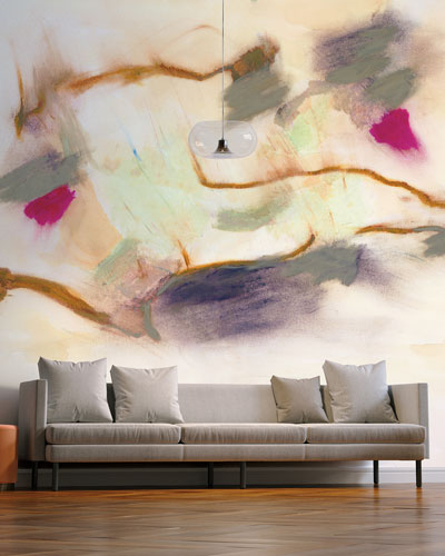 Smokey Abstract Removable Wallpaper and Matching Items