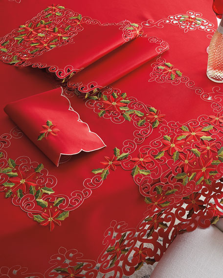 SFERRA Poinsettia Napkins, Set of 4