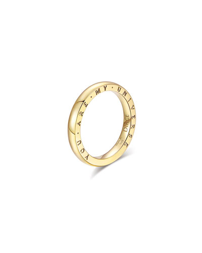 Dirce You Are My Universe 18k Yellow Gold 2.5mm Band Ring  Size 6 and Matching Items