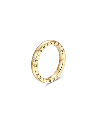 Dirce You Are My Universe 18k Yellow Gold 2.5mm Band Ring w/ Diamond  Size 6.25 and Matching Items