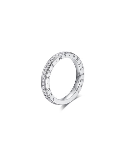 Dirce You Are My Universe 18k White Gold Diamond 2.5mm Band Ring  Size 6.25 and Matching Items