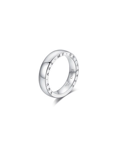 Dirce You Are My Universe 18k White Gold 4.3mm Band Ring  Size 6 and Matching Items
