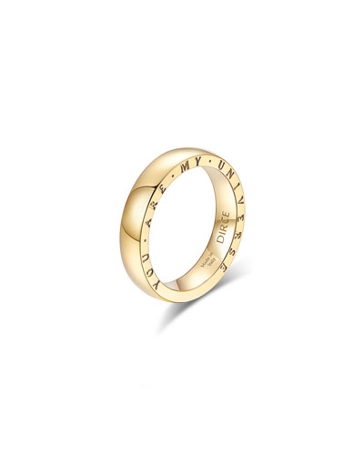 Dirce You Are My Universe 18k Yellow Gold 4.3mm Band Ring  Size 5.75 and Matching Items