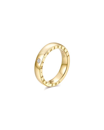 Dirce You Are My Universe 18k Yellow Gold 4.3mm Band Ring w/ Diamond  Size 5.75 and Matching Items