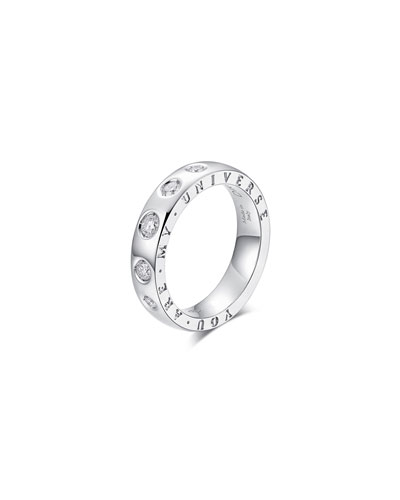 Dirce You Are My Universe 18k White Gold 5-Diamond 4.3mm Band Ring  Size 6.25 and Matching Items