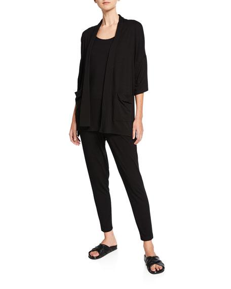 Eileen Fisher Plus Size Jersey Kimono 3/4-Sleeve Cardigan