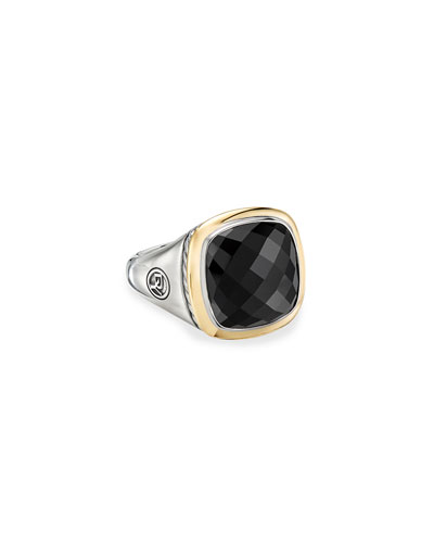 14mm Albion Cushion Ring w/ 18k Gold & Onyx  Size 9 and Matching Items
