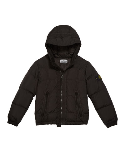 Down Puffer Jacket with Hood  Size 8-10
