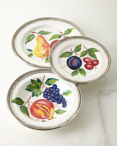 Fruit Pewter & Ceramic Dinner Plate  and Matching Items
