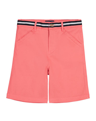 Mock Belted Twill Shorts