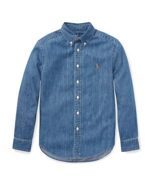 61efb066a Ralph Lauren Childrenswear Woven Chambray Shirt