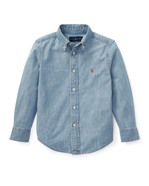 c59a3dd88 Ralph Lauren Childrenswear Woven Chambray Shirt