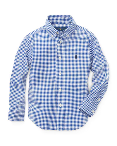 Poplin Woven Gingham Sport Shirt  Size 4-7  and Matching Items