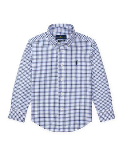 Poplin Woven Tattersall Sport Shirt