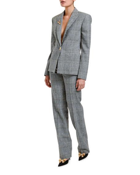 Versace Prince of Wales Wool Jacket