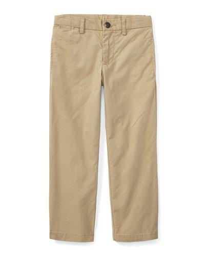 Chino Flat Front Straight Leg Pants