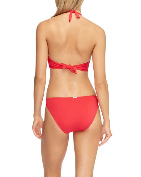 JETS by Jessika Allen Twisted Halter Bikini Top (D/DD Cups)