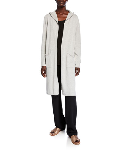 Plus Size Hooded Peruvian Organic Cotton Long Cardigan and Matching Items