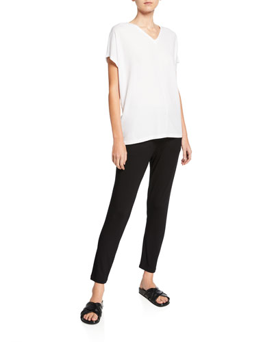 Oversize V-Neck Short-Sleeve Organic Cotton Jersey Tee and Matching Items