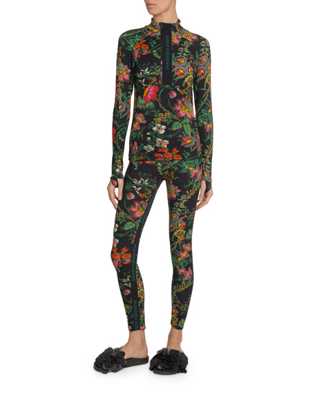 Paco Rabanne Floral Long-Sleeve Top