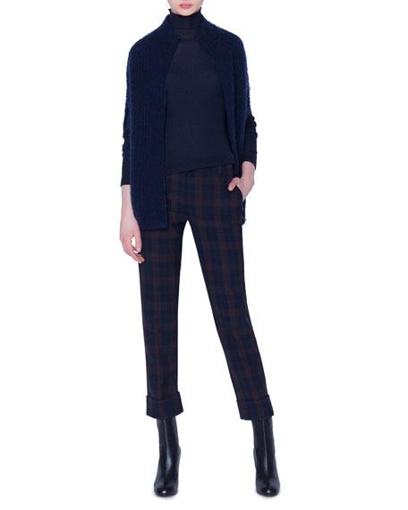 Akris Seamless Ribbed Turtleneck Sweater