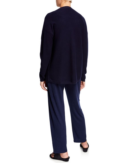 Eileen Fisher Organic Cotton/Hemp V-Neck Button-Front Cardigan