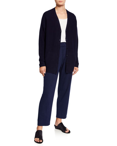 Organic Cotton/Hemp V-Neck Button-Front Cardigan and Matching Items