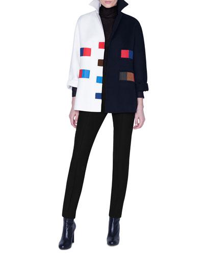 Cashmere Patchwork Kimono-Sleeve Jacket and Matching Items