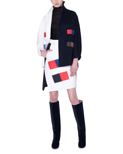 Colorama Cashmere Patchwork Kimono-Sleeve Jacket and Matching Items