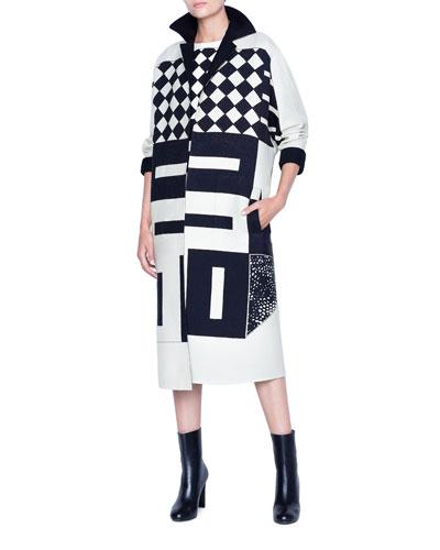 Ellena Kaleidoscope-Print Coat and Matching Items