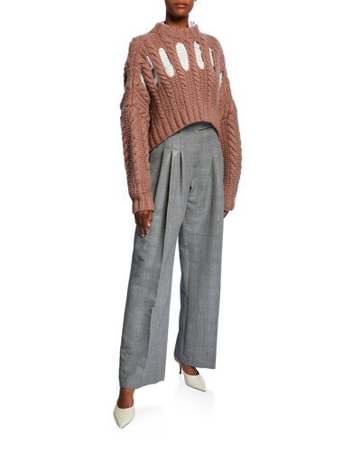 Inga Cashmere Chunky Cable-Knit Sweater and Matching Items