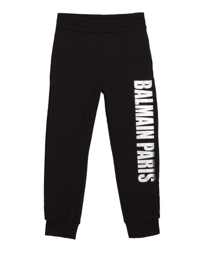 Kid's Metallic Logo Sweatpants  Size 10-16