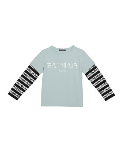 Kid's Long-Sleeve Institutional Logo Tee  Size 10-16