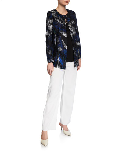 Brushstroke Button-Front Jacket and Matching Items