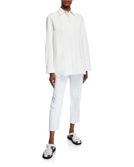 THE ROW Big Sisea Linen Shirt