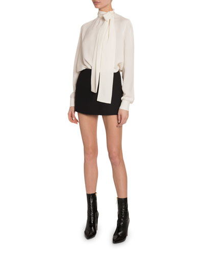 Silk Georgette Tie-Neck Blouse and Matching Items