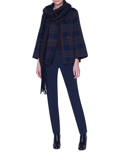 Embroidered Wool-Silk Short Jacket and Matching Items